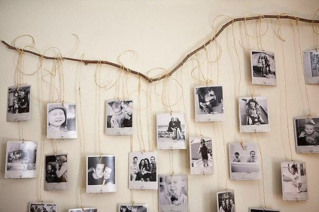 diy bois flotté décoration suspendre ses photos