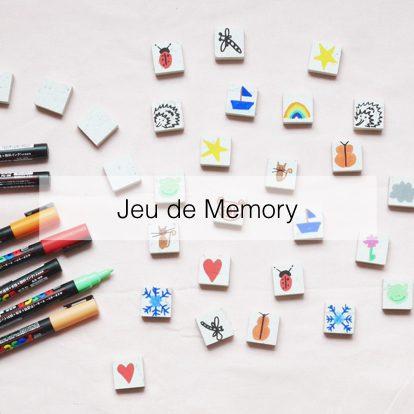 fabriquer un memory diy posca carrelage