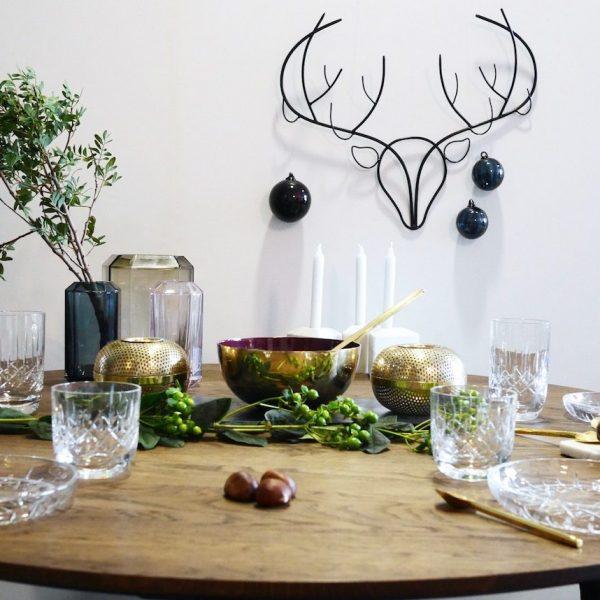 Table Noel bleu et or ClemAroundTheCorner.com
