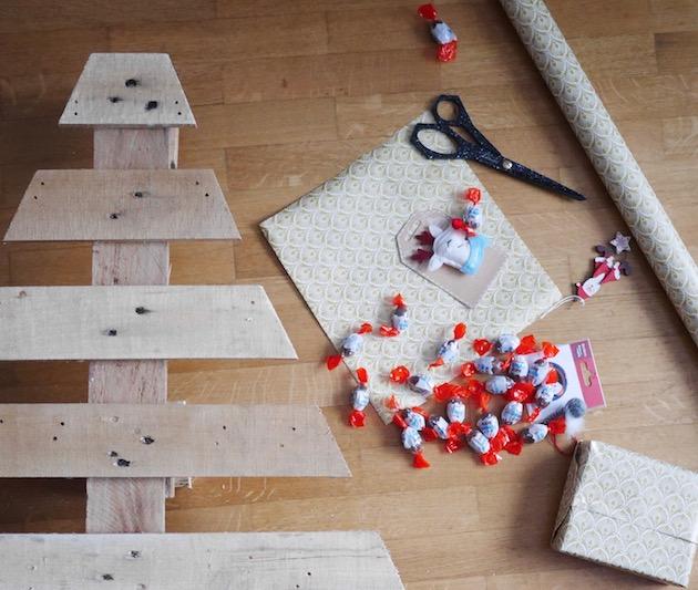 Fabriquer un calendrier de l'avent en palette DIY