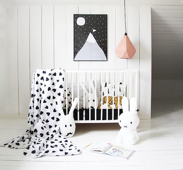 chambre 1er noel de bébé lampe lapin miffy