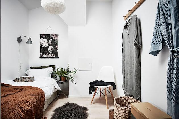 Visite deco petit appartement en longueur style nordique