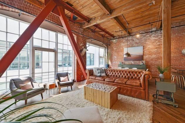 loft murs en briquettes décoration intérieure