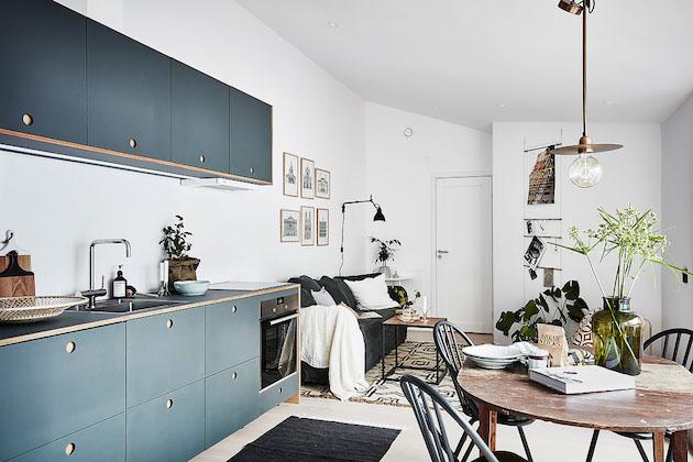Visite deco petit appartement style nordique clem around the corner for Cuisine style nordique
