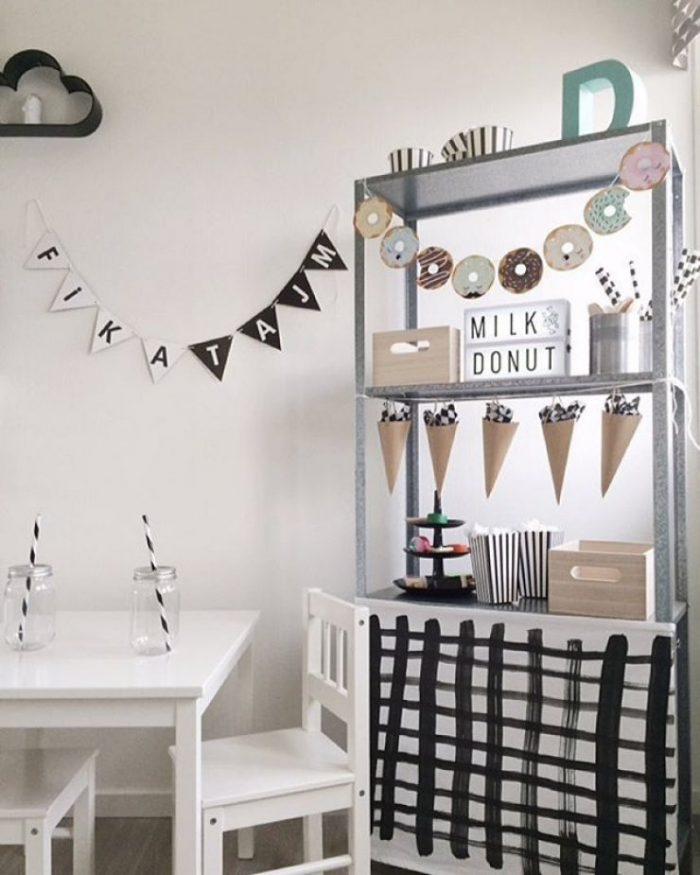 fabriquer un meuble stand dinette pour enfant