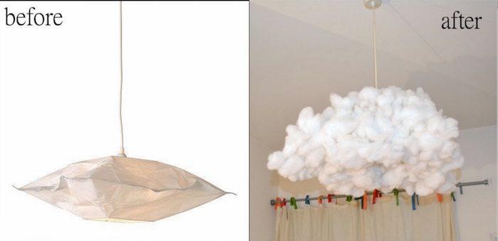 fabriquer une suspension nuage avec du coton colle facile
