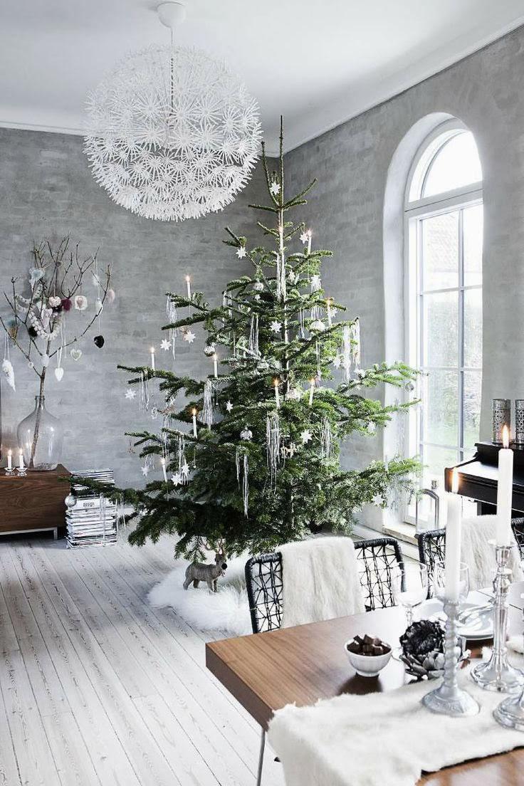 déco Noël magique givré blanc gris argent