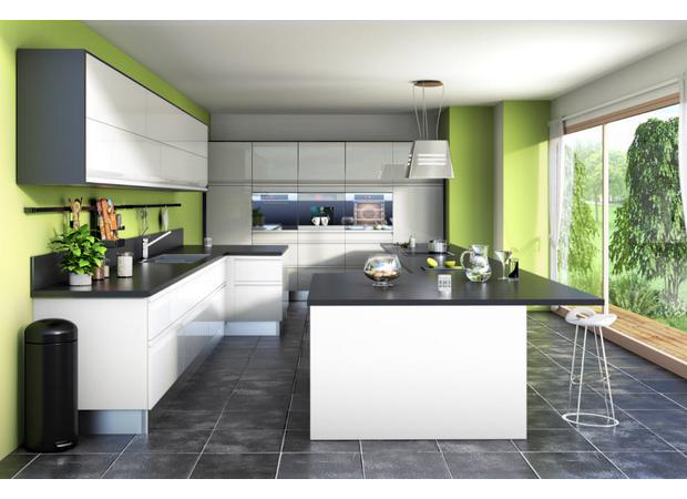 vert greenery dans la cuisine peinture murale