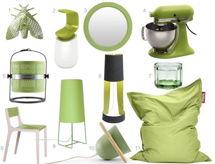 le vert greenery dans la decoration interieur accessoire