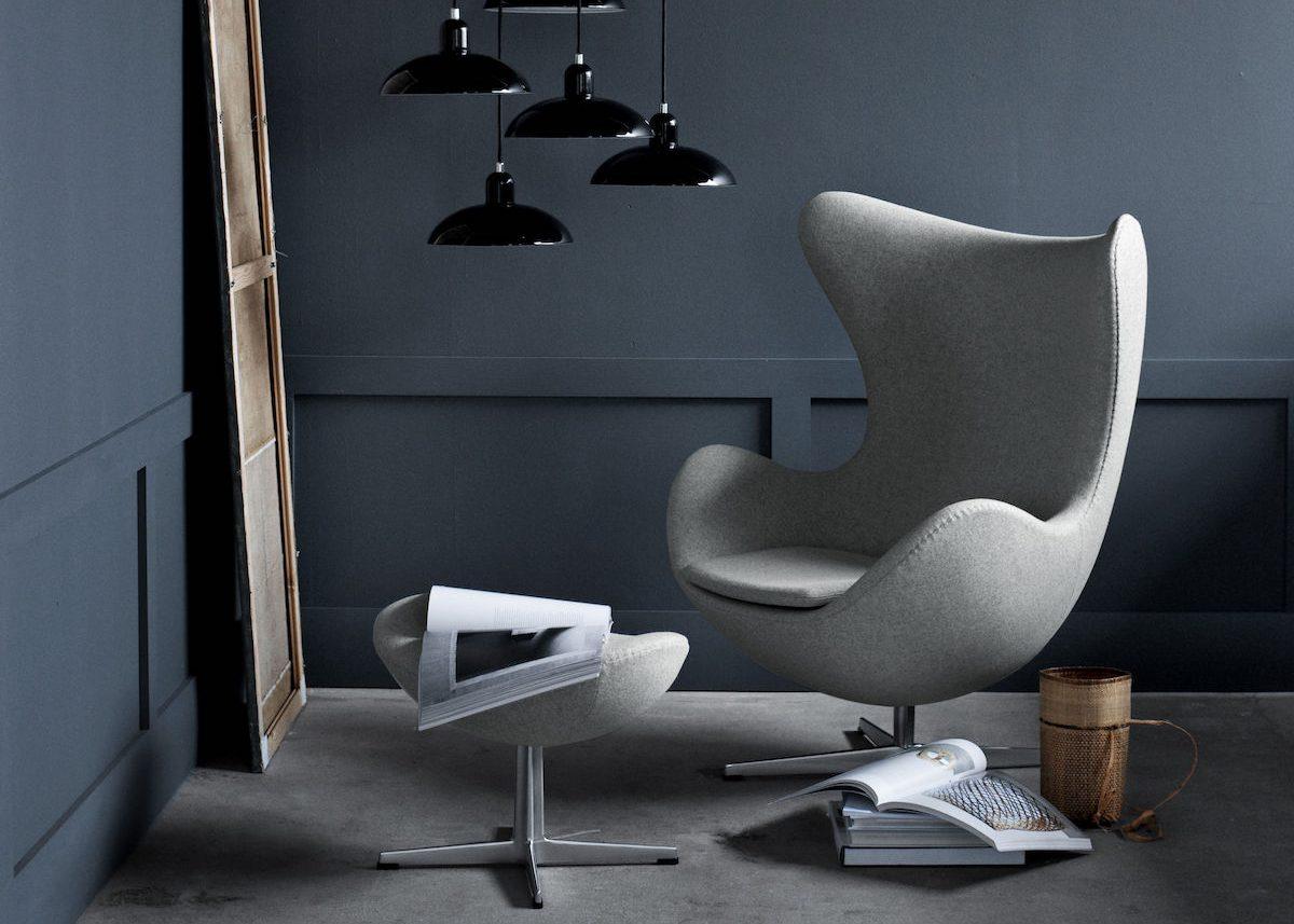icone design des années 50 le fauteuil Egg dArne Jacobsen