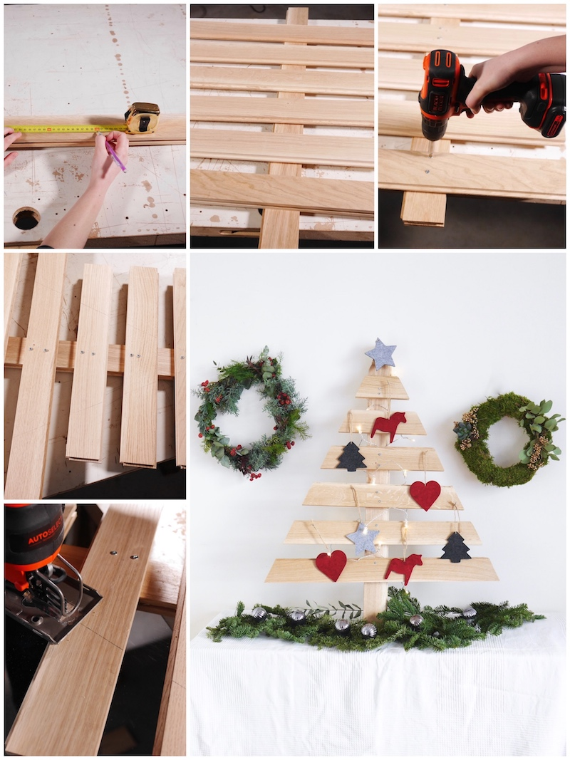 Upcycling : DIY sapin de Noël en bois parquet