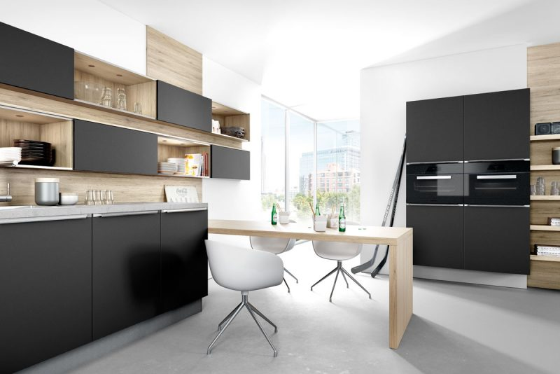 cuisine noire la nouvelle tendance deco. Black Bedroom Furniture Sets. Home Design Ideas
