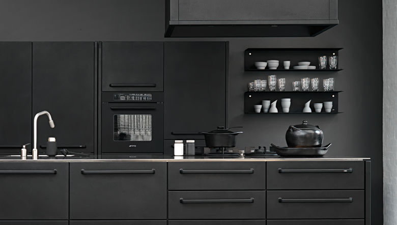 cuisine noire la nouvelle tendance deco clemaroundthecorner. Black Bedroom Furniture Sets. Home Design Ideas