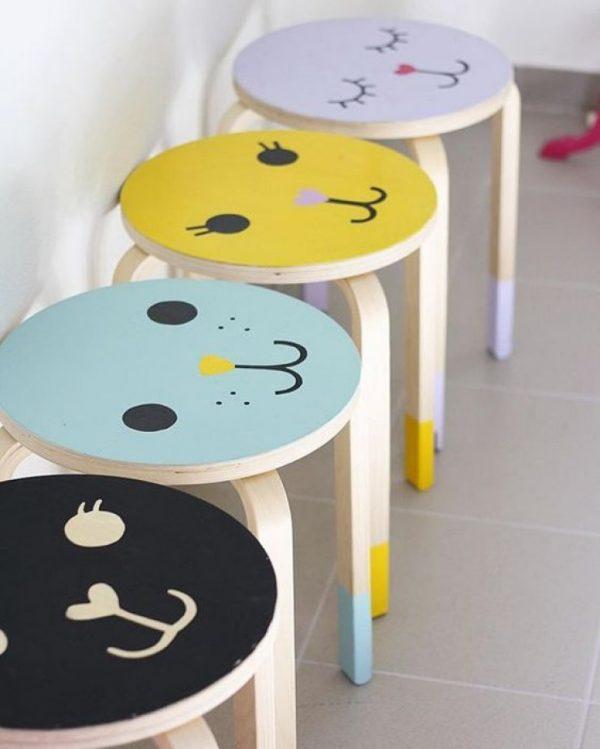 Personnaliser le tabouret IKEA Frosta hack