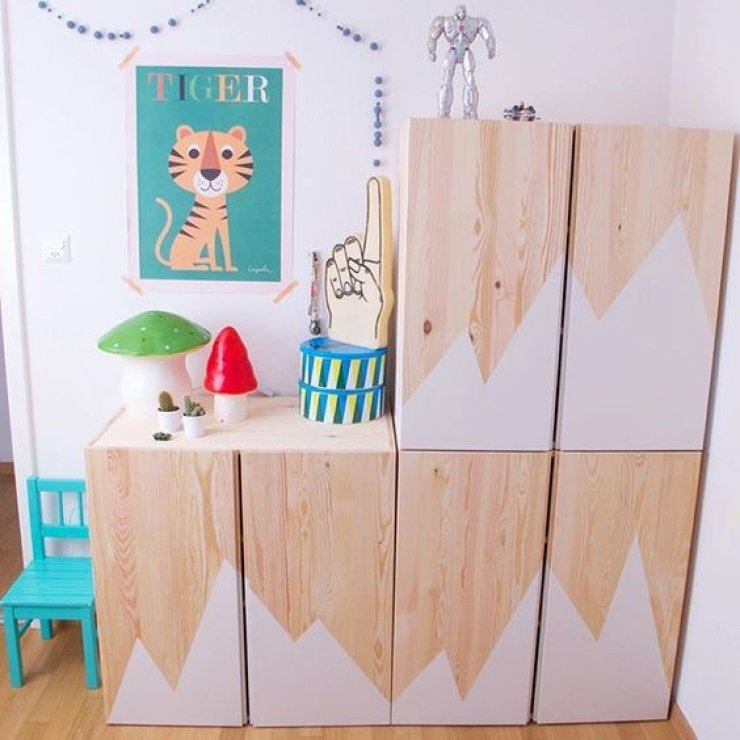 customiser un meuble ikea 20 id es pour la chambre d enfant. Black Bedroom Furniture Sets. Home Design Ideas