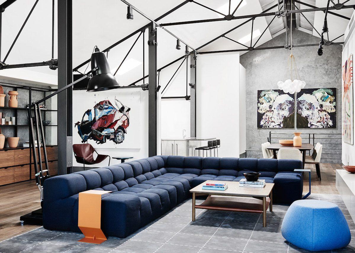 Rénovation d une école de cuisine en loft cosy a Melbourne en Australie