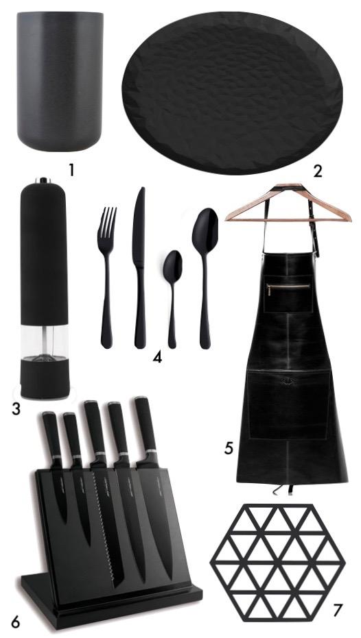 cuisine noire mat design blog déco clem around the corner