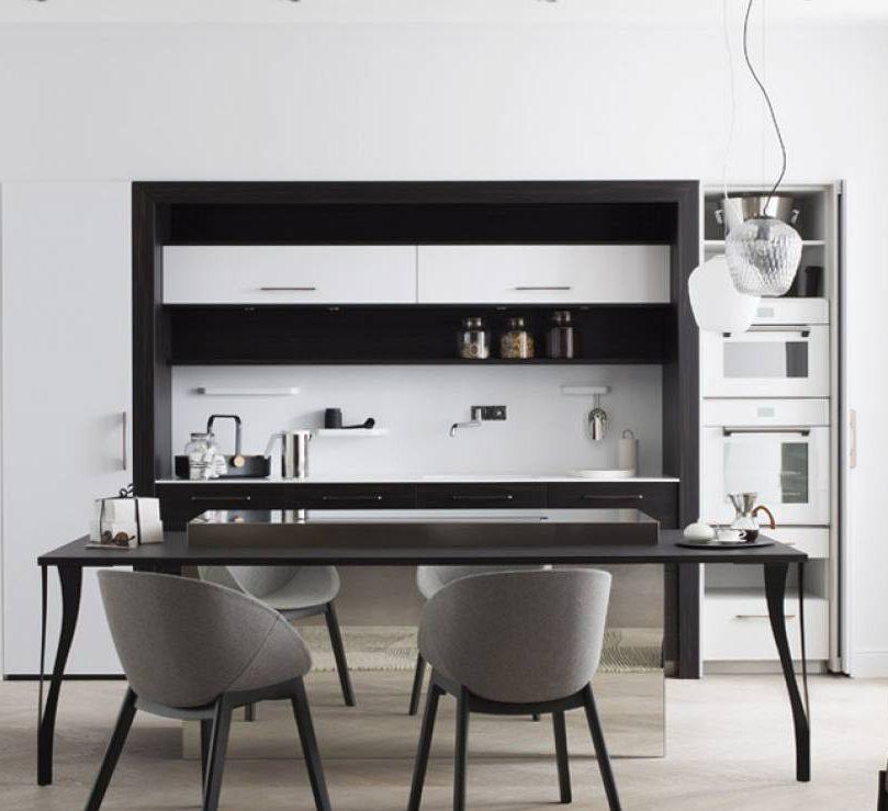 cuisine noire et blanche design perene