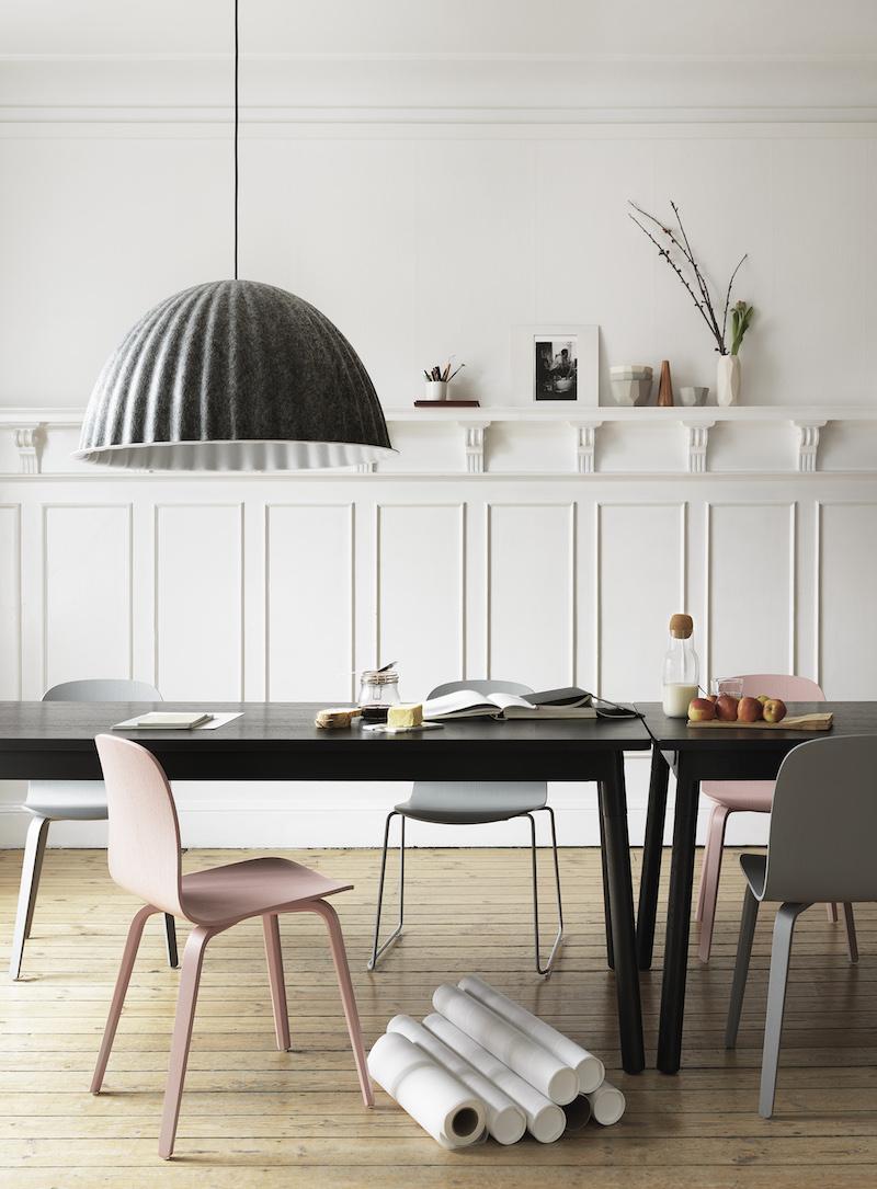 interieur scandinave et coloré par Muuto