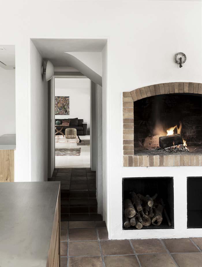 Mogens Lassen fonctionnalisme architecture salon cheminee