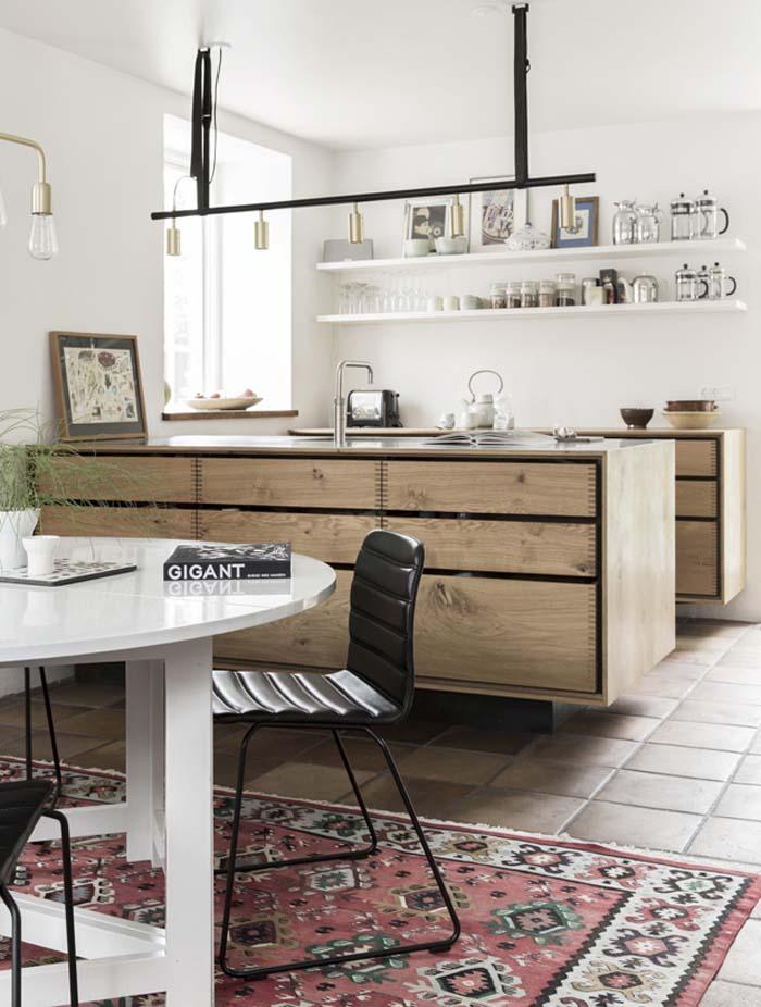 Mogens Lassen maison du danemark cuisine en bois