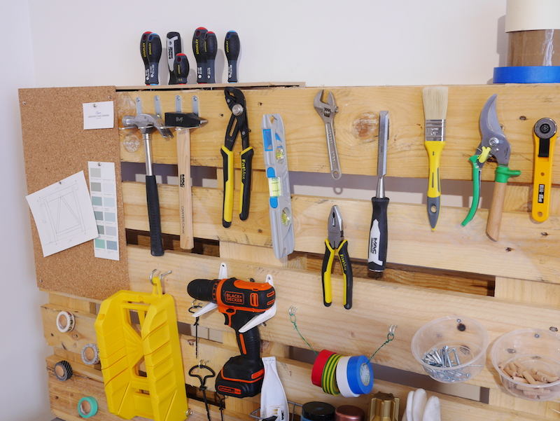 comment fabriquer un rangement mural pour outils de bricolage garage