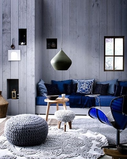 salon bleu marine fauteuil design scandinave