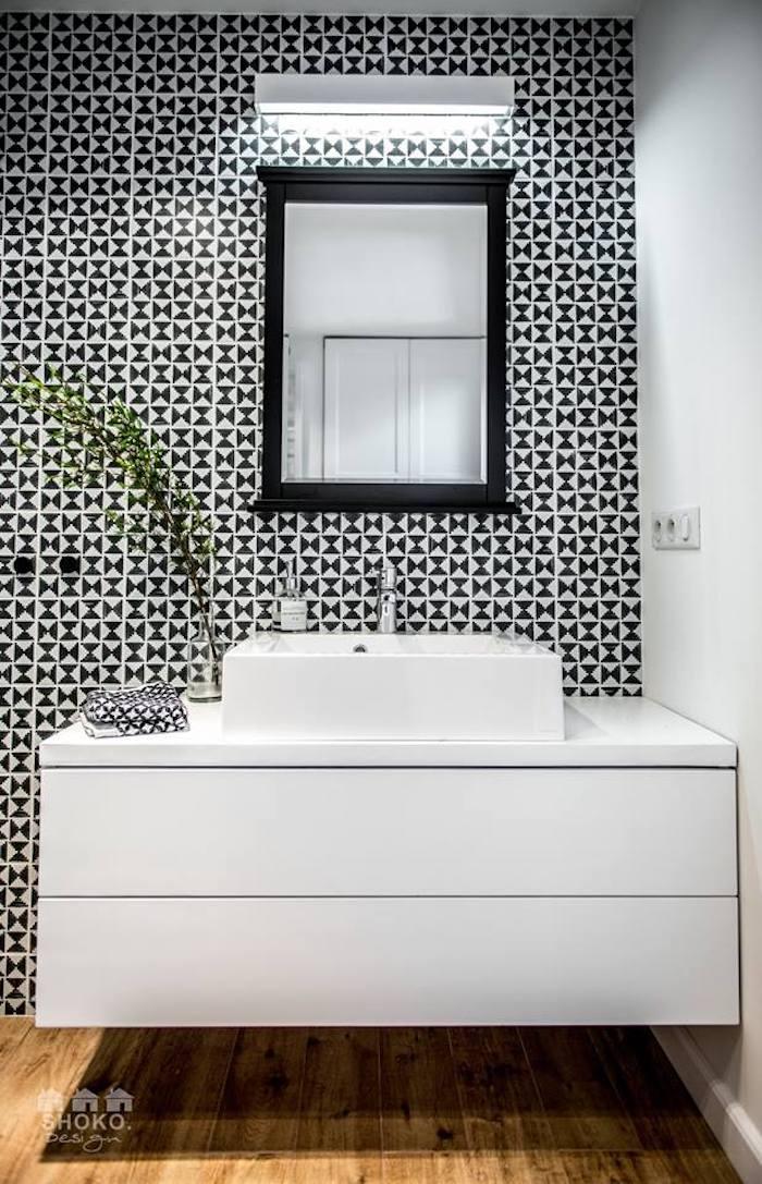 salle de bain loft scandinave graphique