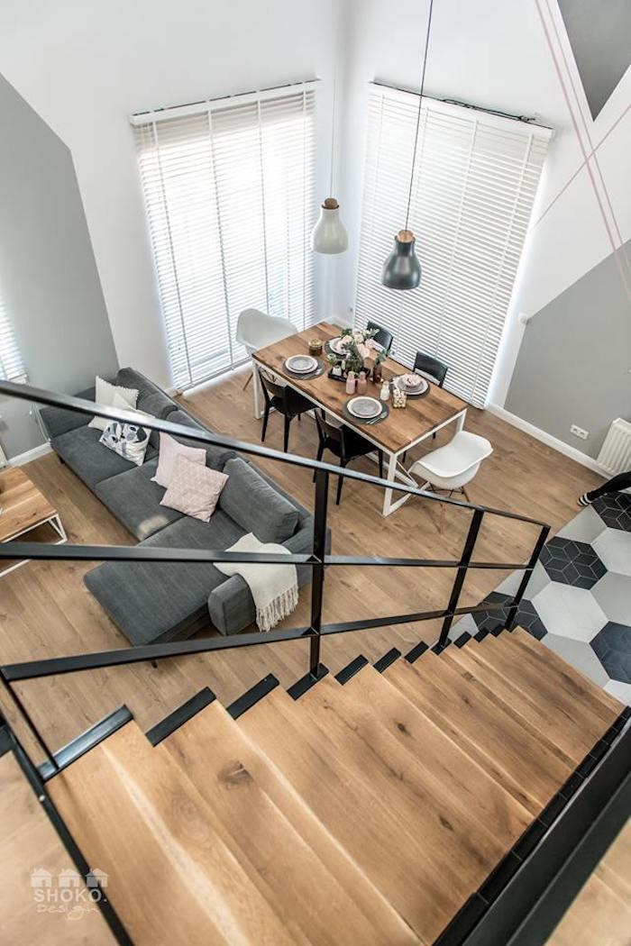 loft scandinave style industriel moderne