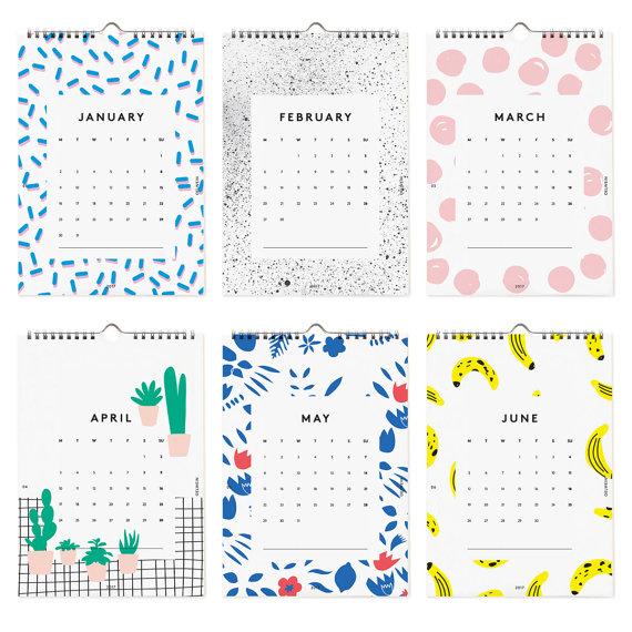 calendrier 2017 original deco oelwein
