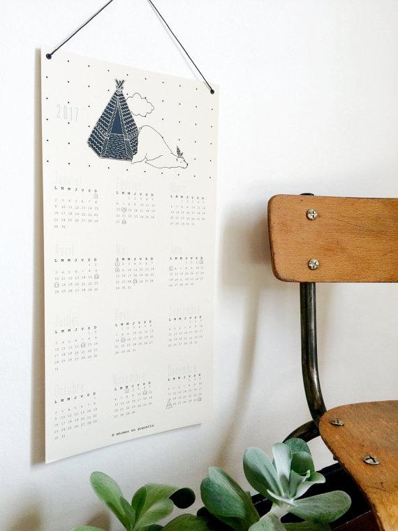 calendrier 2017 original deco mhomes en goguette