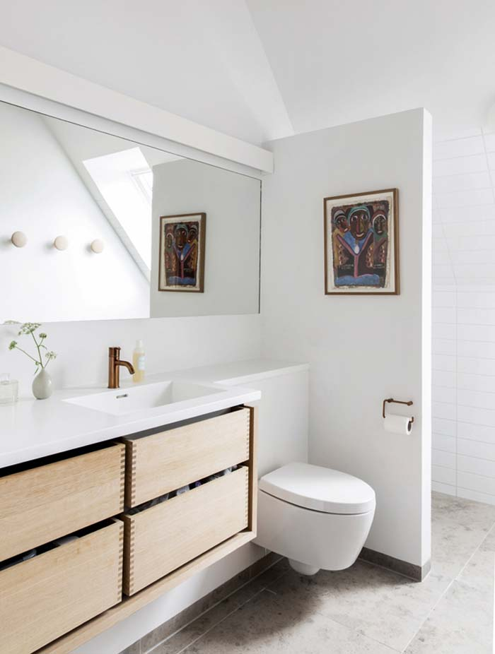 salle de bain style années 70 par Mogens Lassen