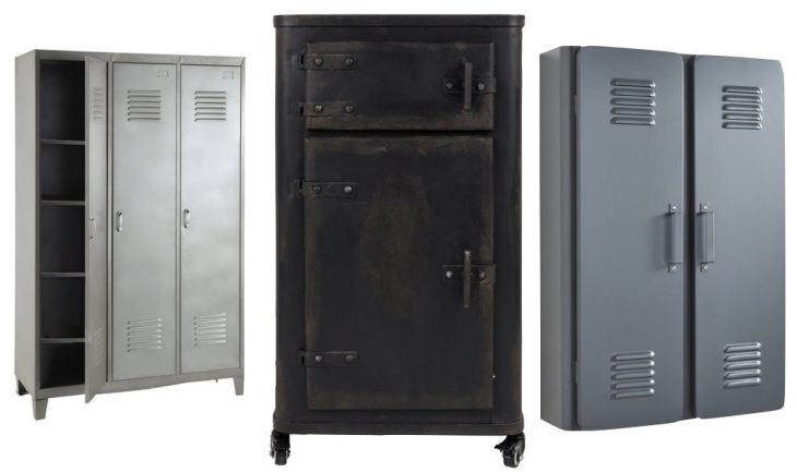 o trouver une grande armoire m tallique au style industriel. Black Bedroom Furniture Sets. Home Design Ideas