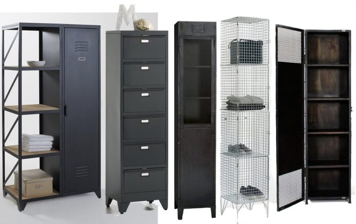 o trouver une grande armoire m tallique au style. Black Bedroom Furniture Sets. Home Design Ideas