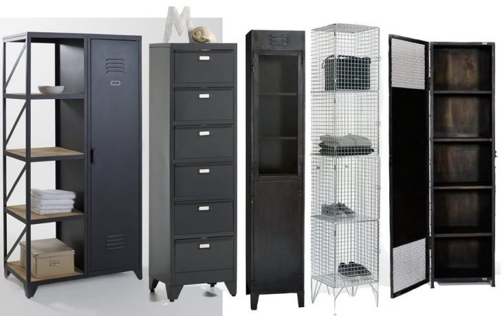 o trouver une grande armoire m tallique au style industriel clematc. Black Bedroom Furniture Sets. Home Design Ideas