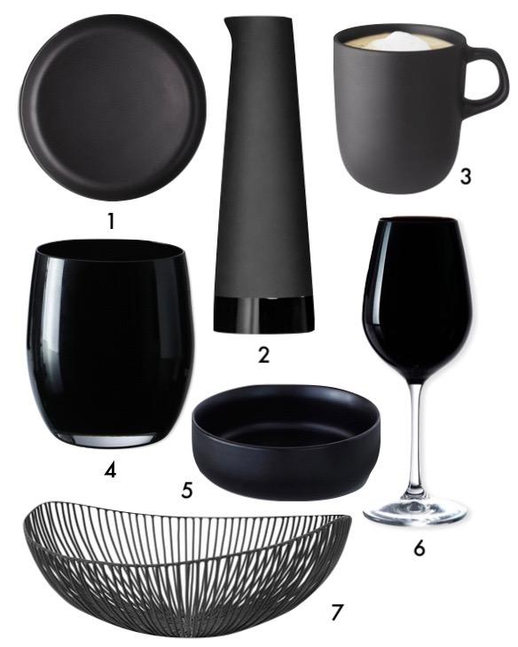 cuisine noire mat vaisselle blog déco clem around the corner