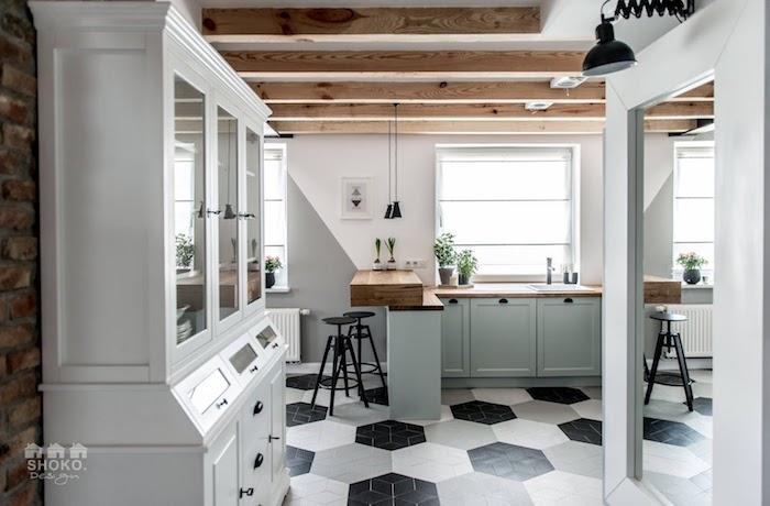 loft scandinave cuisine de campagne moderne