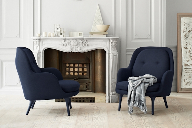 Le bleu marine dans la d coration blog deco design clem around the corner for Decoration salon bleu marine