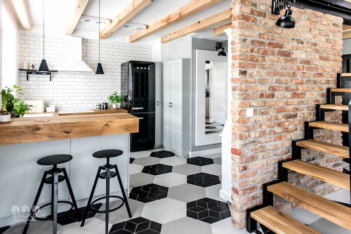loft scandinave cuisine ouverte