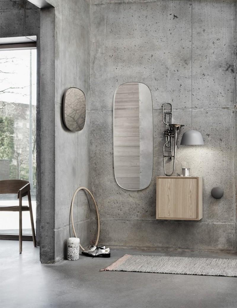 salle de bain en béton ciré ambiance loft industriel