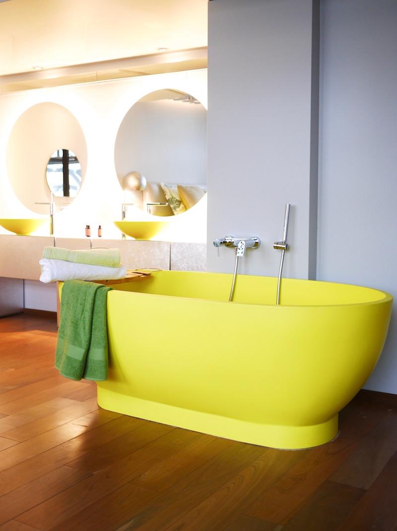 salle de bain vert greenery