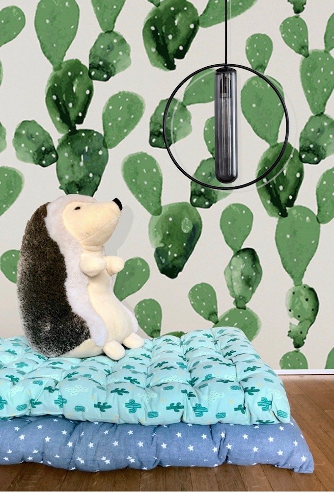 sur matelas de sieste décoration bébé cactus blog déco - Clem around the corner