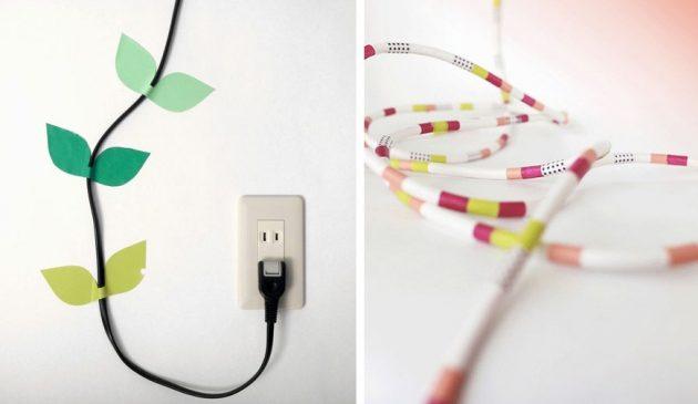 masking tape comment cacher des fils électriques