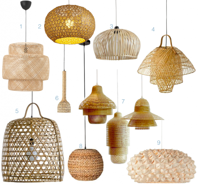 ou trouver une suspension lampe bambou decorative pas chere