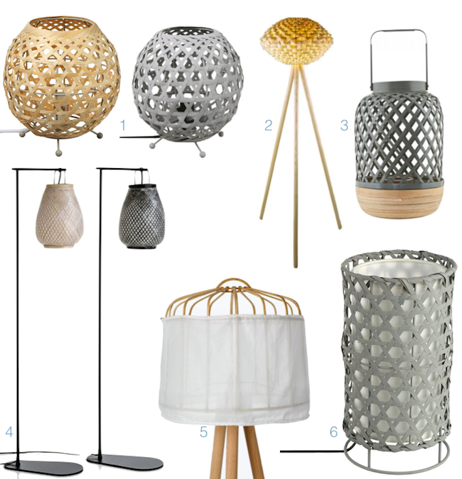 ou trouver une lampe bambou decorative pas chere