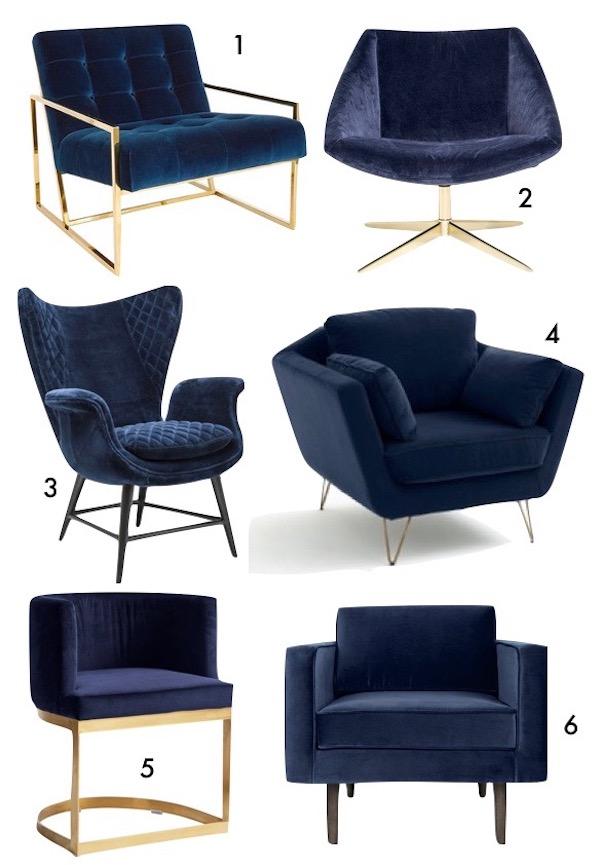 bleu marine decoration blog deco fauteuil velours