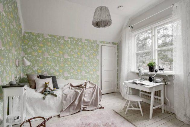 chambre enfant style scandinave couleurs pastel