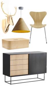 Le meuble en contreplaqué permet d'apporter du volume à la pi`ce tout en étant dans la grande tendance déco scandinave et minimaliste