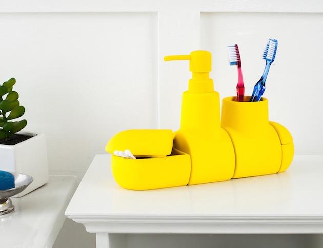 rangement pour salle de bain sous marin flacon