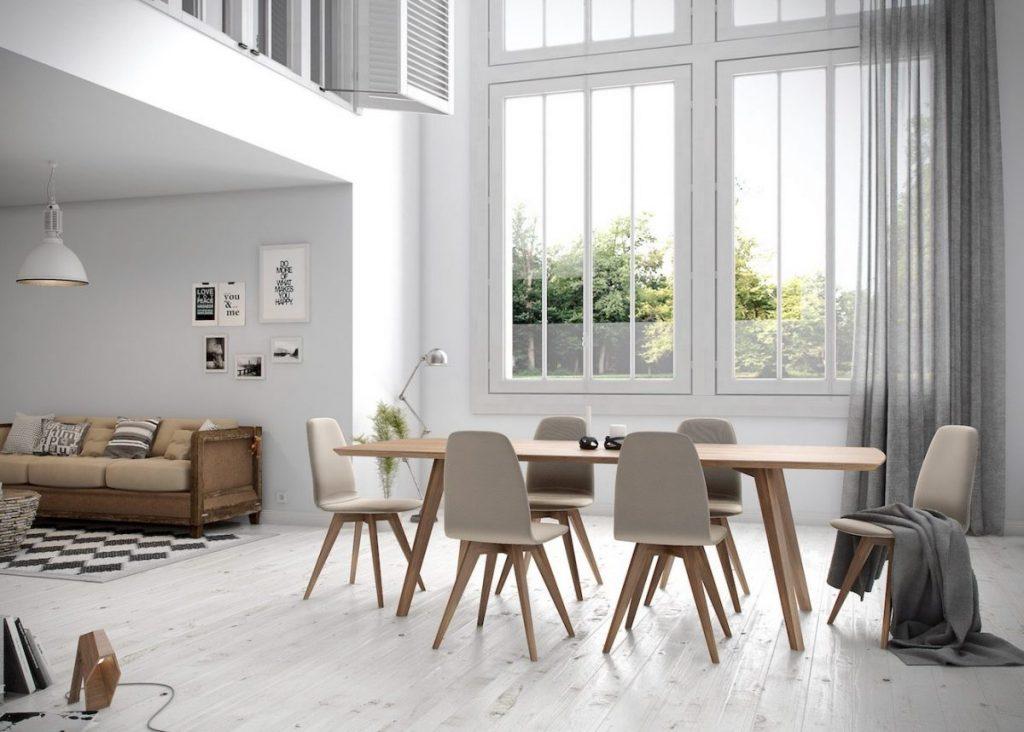 salle à manger loft verrière blanche design - blog déco clem around the corner